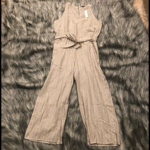 NWT Anthropologie Drew striped jumpsuit size Large